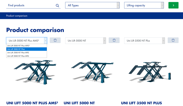 nussbaumlifts.com product comparison